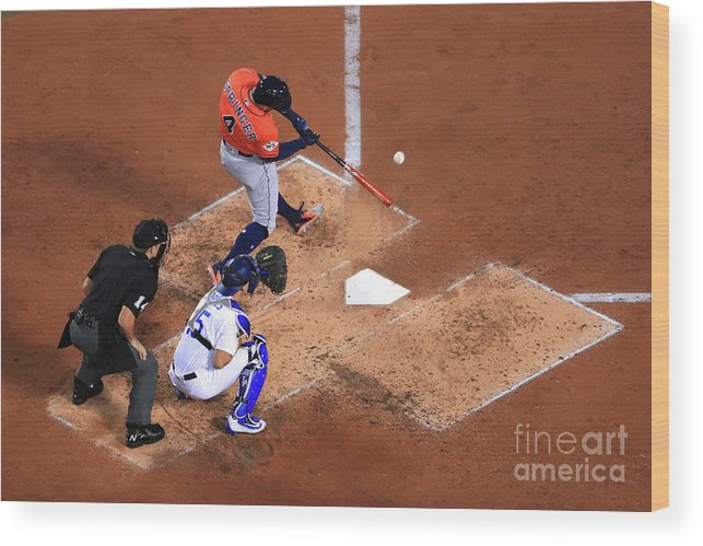 Second Inning Wood Print featuring the photograph George Springer by Sean M. Haffey
