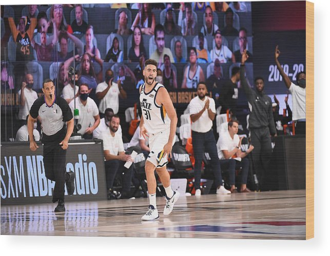 Playoffs Wood Print featuring the photograph Georges Niang by Garrett Ellwood