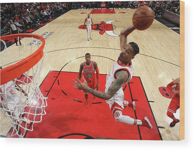 Nba Pro Basketball Wood Print featuring the photograph Gerald Green by Gary Dineen