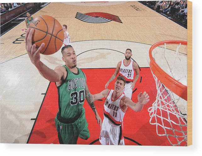 Nba Pro Basketball Wood Print featuring the photograph Gerald Green by Sam Forencich