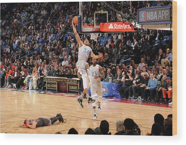 Event Wood Print featuring the photograph Giannis Antetokounmpo by Andrew D. Bernstein