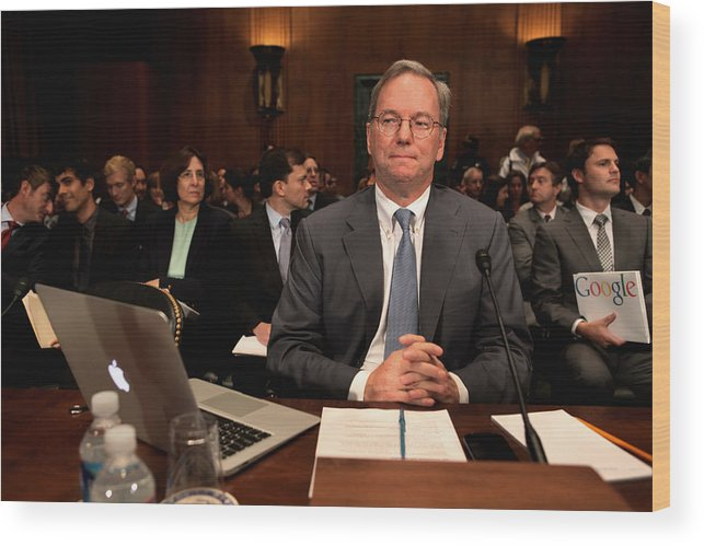 Strategy Wood Print featuring the photograph Google CEO Testifies At Senate Hearing On Antitrust Policy by Chip Somodevilla
