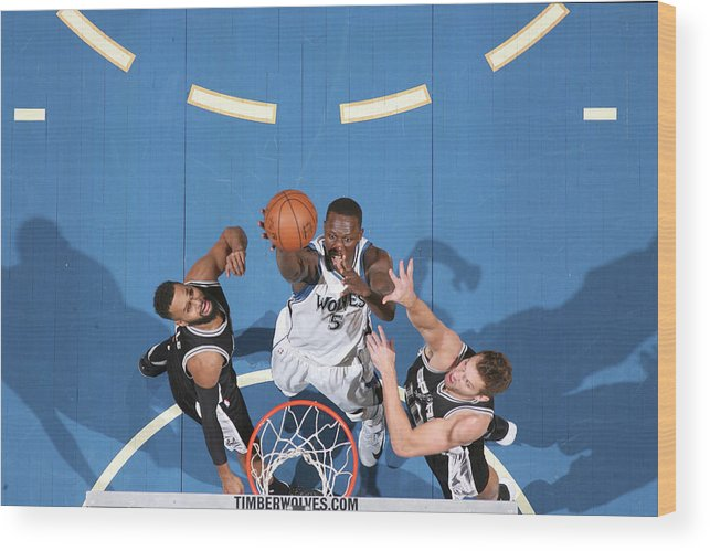 Nba Pro Basketball Wood Print featuring the photograph Gorgui Dieng by David Sherman