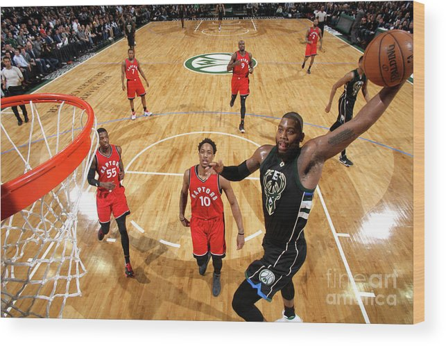 Playoffs Wood Print featuring the photograph Greg Monroe by Gary Dineen