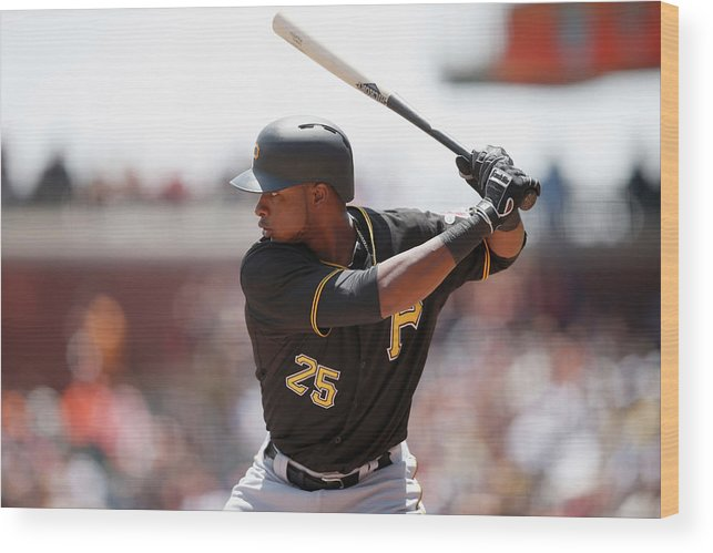 San Francisco Wood Print featuring the photograph Gregory Polanco by Ezra Shaw