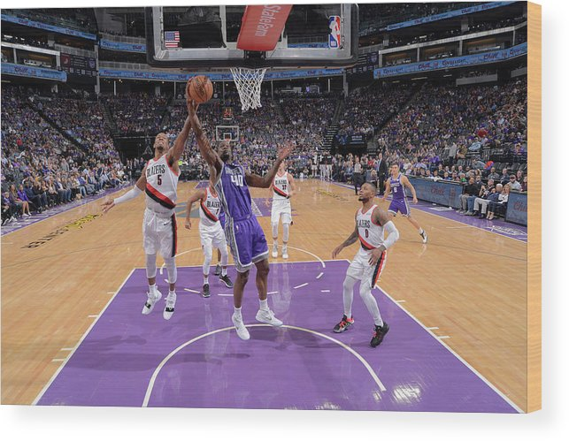 Nba Pro Basketball Wood Print featuring the photograph Harrison Barnes and Rodney Hood by Rocky Widner