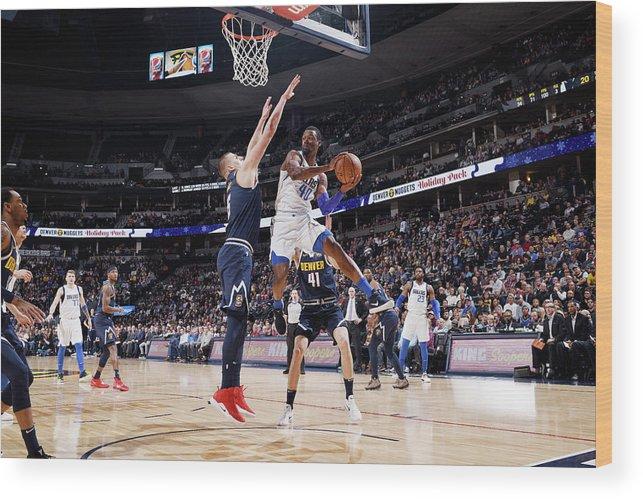 Nba Pro Basketball Wood Print featuring the photograph Harrison Barnes by Garrett Ellwood