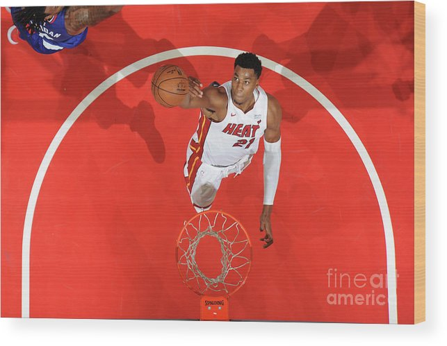 Nba Pro Basketball Wood Print featuring the photograph Hassan Whiteside by Andrew D. Bernstein