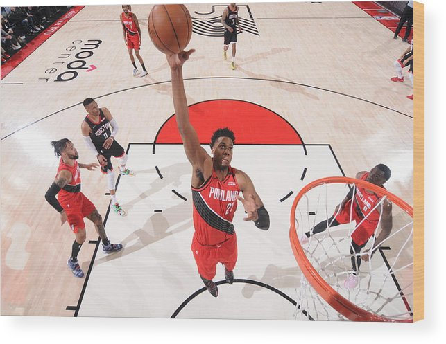 Nba Pro Basketball Wood Print featuring the photograph Hassan Whiteside by Sam Forencich