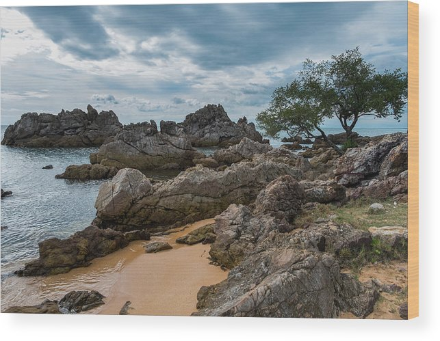 Tranquility Wood Print featuring the photograph Hin Khrong View Point at Chanthaburi, Thailand by Lifeispixels