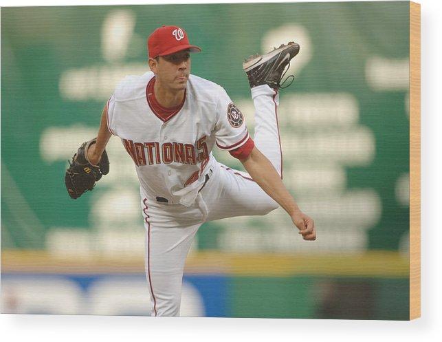 Rfk Stadium Wood Print featuring the photograph Houston Astros v Washington Nationals by Mitchell Layton