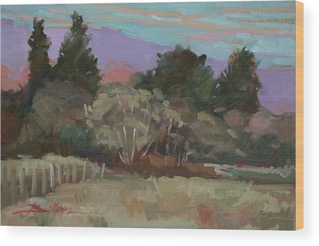 Northern California Wood Print featuring the painting Humbolt Fields by Betty Jean Billups