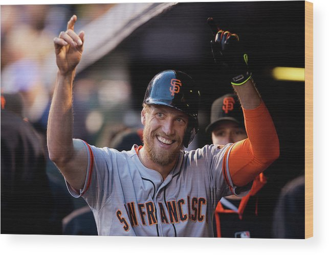 Celebration Wood Print featuring the photograph Hunter Pence by Justin Edmonds