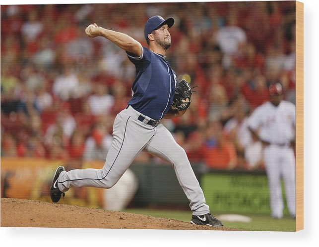 Great American Ball Park Wood Print featuring the photograph Huston Street by Joe Robbins