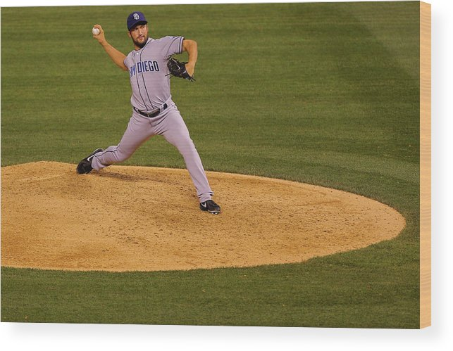 Ninth Inning Wood Print featuring the photograph Huston Street by Justin Edmonds