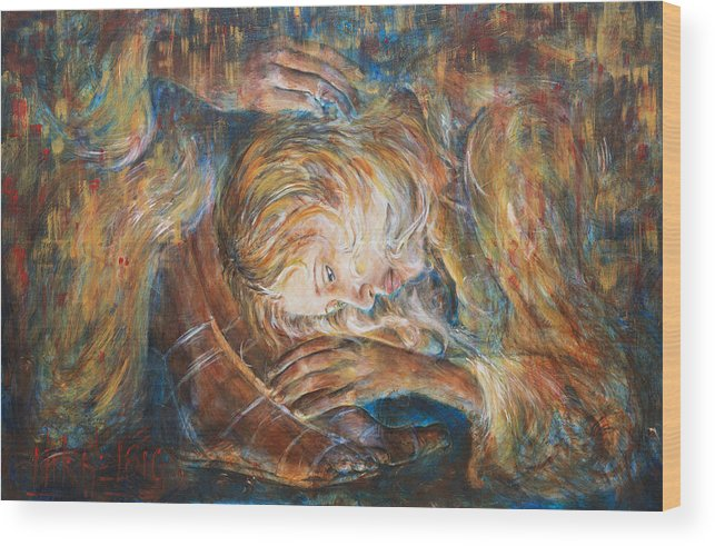 Mary Magdalene Wood Print featuring the painting I Cried For You by Nik Helbig