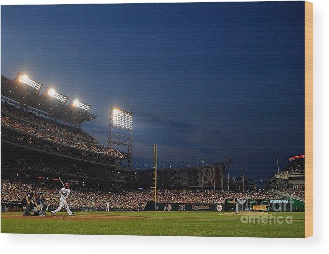 American League Baseball Wood Print featuring the photograph Ian Desmond by Patrick Mcdermott