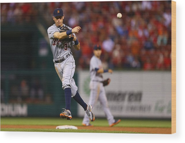 People Wood Print featuring the photograph Ian Kinsler by Dilip Vishwanat