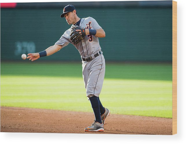 Second Inning Wood Print featuring the photograph Ian Kinsler by Jason Miller