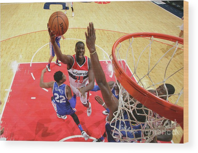Nba Pro Basketball Wood Print featuring the photograph Ian Mahinmi by Ned Dishman