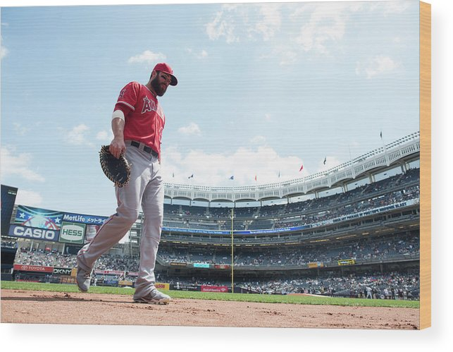 American League Baseball Wood Print featuring the photograph Ian Stewart by Rob Tringali