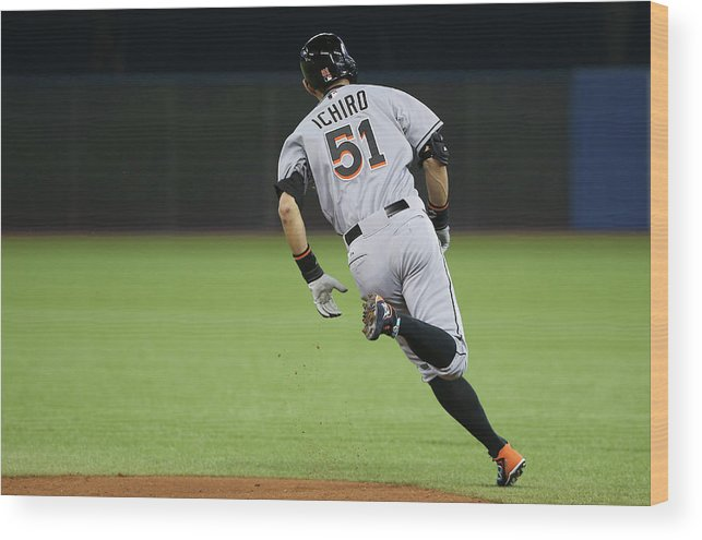 People Wood Print featuring the photograph Ichiro Suzuki by Tom Szczerbowski