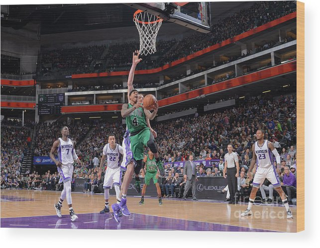 Nba Pro Basketball Wood Print featuring the photograph Isaiah Thomas by Rocky Widner