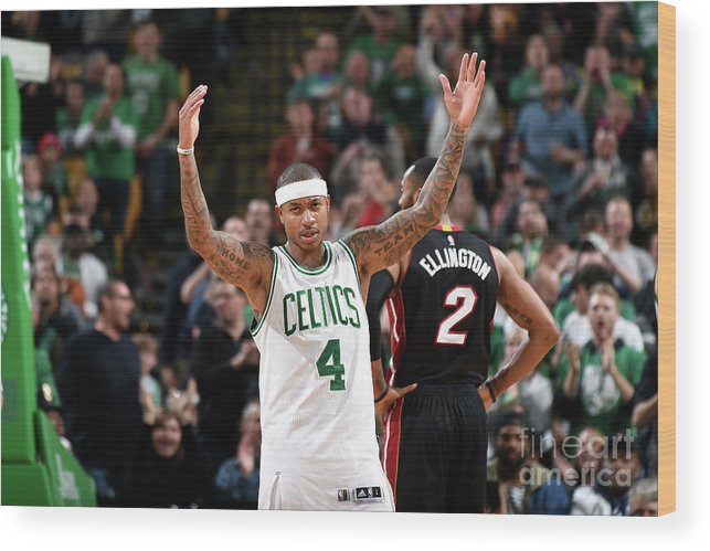 Nba Pro Basketball Wood Print featuring the photograph Isaiah Thomas by Steve Babineau