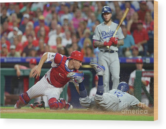 Baseball Catcher Wood Print featuring the photograph J. T. Realmuto by Rich Schultz