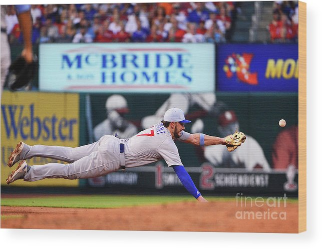 People Wood Print featuring the photograph Jack Flaherty and Kris Bryant by Jeff Curry