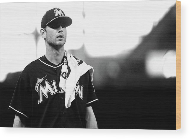 American League Baseball Wood Print featuring the photograph Jacob Turner by Mike Ehrmann