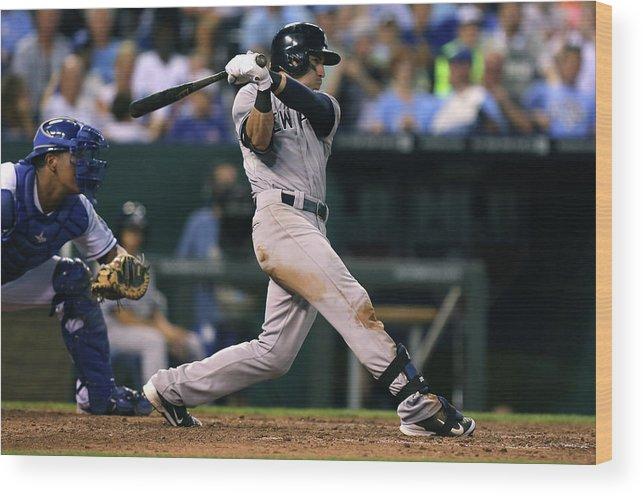 American League Baseball Wood Print featuring the photograph Jacoby Ellsbury by Ed Zurga