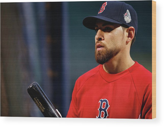 American League Baseball Wood Print featuring the photograph Jacoby Ellsbury by Jared Wickerham