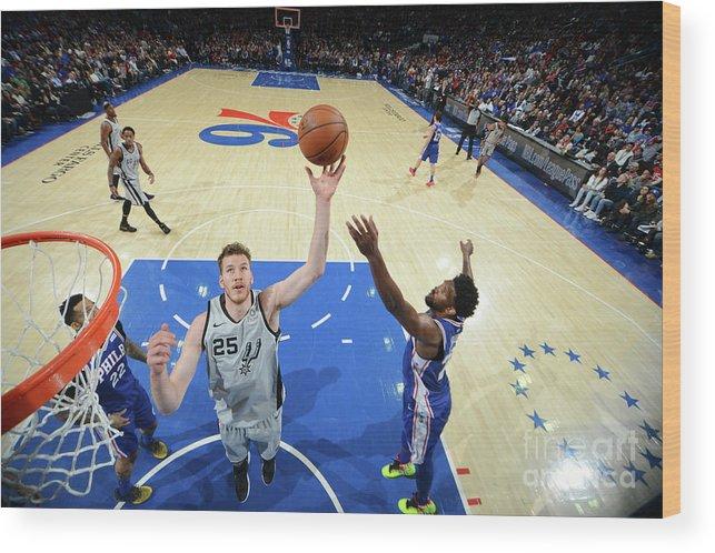 Nba Pro Basketball Wood Print featuring the photograph Jakob Poeltl by Jesse D. Garrabrant