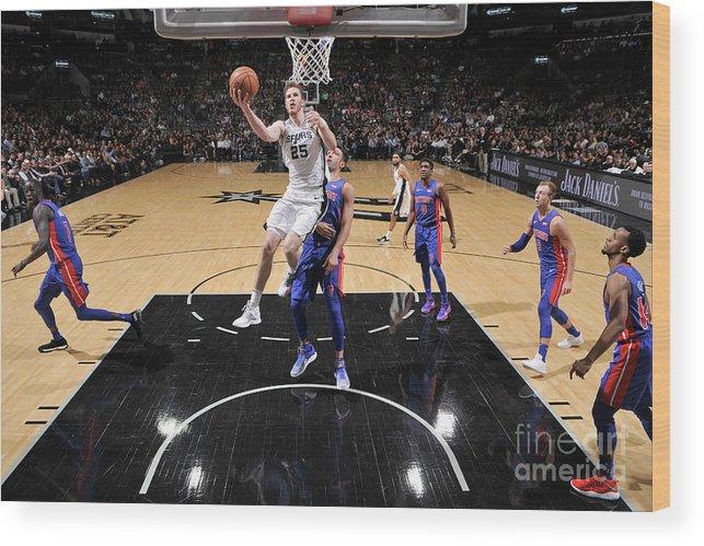 Nba Pro Basketball Wood Print featuring the photograph Jakob Poeltl by Mark Sobhani