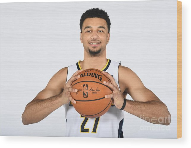 Media Day Wood Print featuring the photograph Jamal Murray by Garrett Ellwood