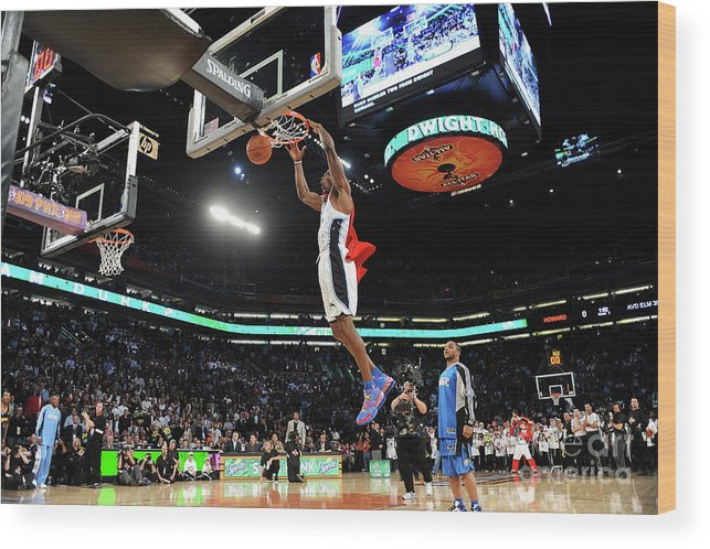 Nba Pro Basketball Wood Print featuring the photograph Jameer Nelson and Dwight Howard by Noah Graham
