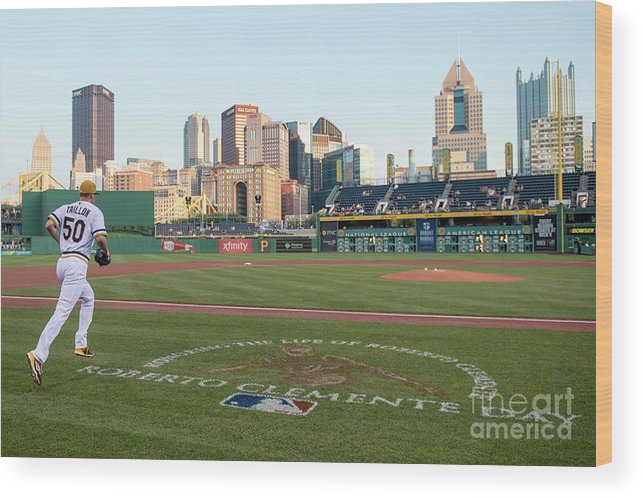 People Wood Print featuring the photograph Jameson Taillon and Roberto Clemente by Justin Berl