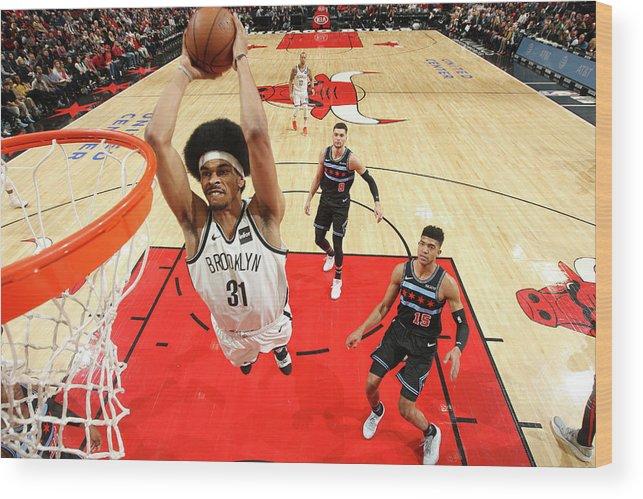 Nba Pro Basketball Wood Print featuring the photograph Jarrett Allen by Gary Dineen