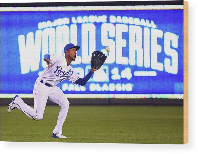 Game Two Wood Print featuring the photograph Jarrod Dyson by Dilip Vishwanat