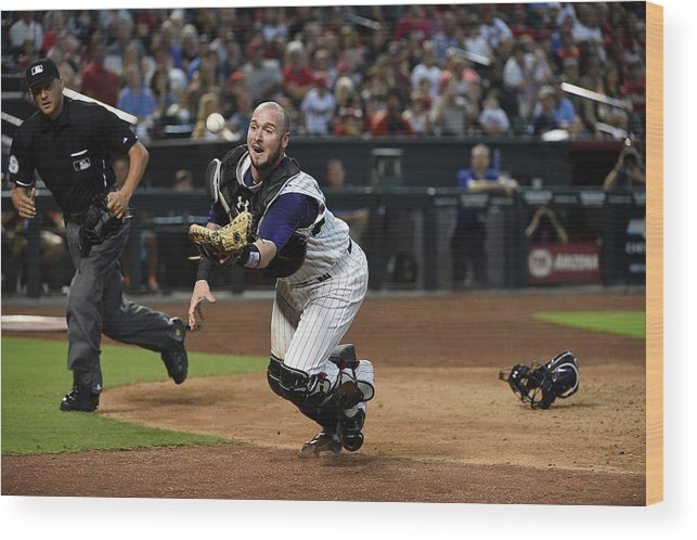 People Wood Print featuring the photograph Jarrod Saltalamacchia by Norm Hall