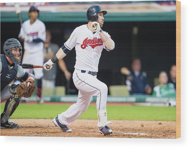 People Wood Print featuring the photograph Jason Kipnis by Jason Miller