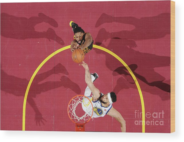 Playoffs Wood Print featuring the photograph Javale Mcgee and Tristan Thompson by Andrew D. Bernstein