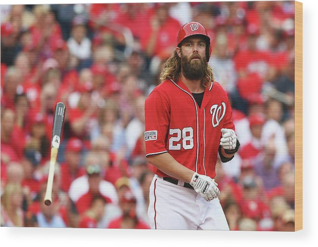 National League Baseball Wood Print featuring the photograph Jayson Werth by Elsa