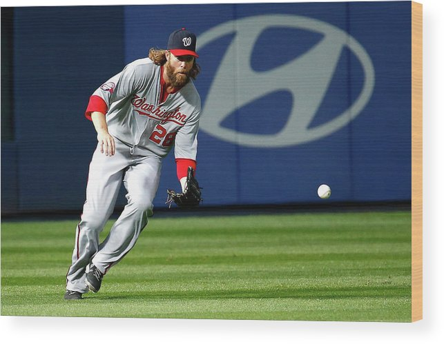 Atlanta Wood Print featuring the photograph Jayson Werth by Kevin C. Cox
