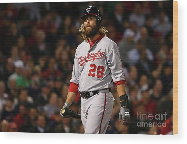 Three Quarter Length Wood Print featuring the photograph Jayson Werth by Maddie Meyer