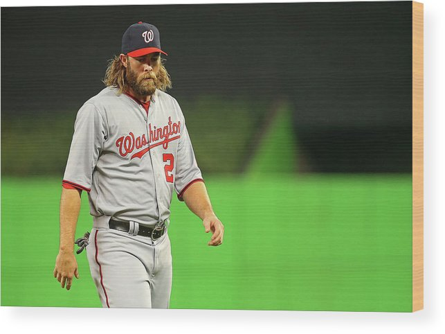 American League Baseball Wood Print featuring the photograph Jayson Werth by Mike Ehrmann
