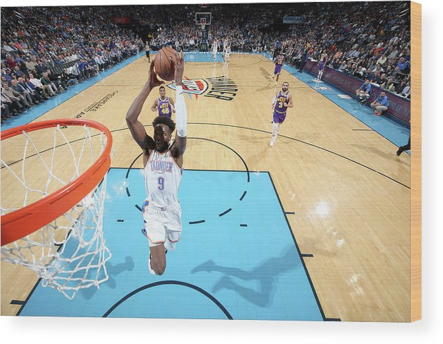 Nba Pro Basketball Wood Print featuring the photograph Jerami Grant by Joe Murphy