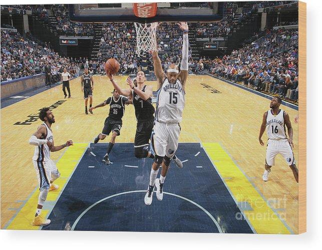 Nba Pro Basketball Wood Print featuring the photograph Jeremy Lin by Joe Murphy