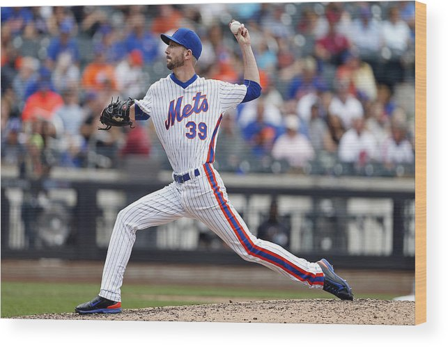 American League Baseball Wood Print featuring the photograph Jerry Blevins by Adam Hunger